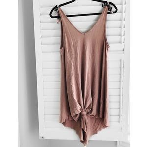 H&M Dusty Pink Dress with Shoulder Ties Size S/M